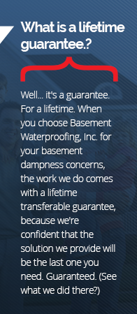 Basement Waterproofing Guarantee in Ogdensburg
